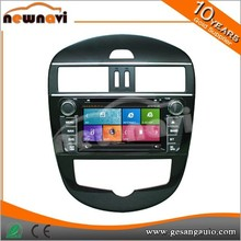 Car security entertainment mirror link capacitive touch screen 2 din 7 inch car stereo for Tiida with GPS BT TV tuner AM/FM