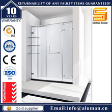 Newly updated shinning poshished abs backboard shower cubicle For commercial building design