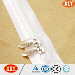 Nylon teeth normal slider two way nylon zipper open end nylon zipper hot sale
