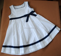 100% cotton sleeveless causal girl woven hand embroidery dress