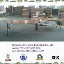 Qingdao wooden serpentine folding banquet tables