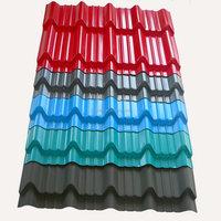 manufacturer supplied pre coated roof sheets, steel sheets wide 750mm after corrugating