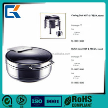 Hotel buffet supplies high quality metal food chafing dishes warmers for sale