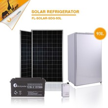 93L Single Door No. and Double-Temperature Temperature Type solar freezer , 100% solar powered freezer with inverter /battery