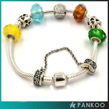 European Brand Sterling Silver Snake Chain Bracelet Original Charms