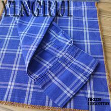 4oz 100% cotton check dobby denim fabric