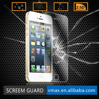 Japan Anti-Glare/Anti bubble new arrvial 0.33mm 2.5d super clear tempered glass screen protector for iphone5/5s/5c