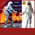 100% bombero de aluminio de aislamiento de calor de bombero traje( a prueba 1000 grados centígrados)