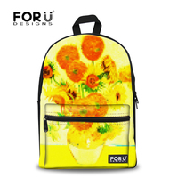 New Fashion Flower Photo Drawing Brand Backpack