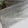 16 rows colorful faux hot fix rhinestone banding for cake candle wrap rolls
