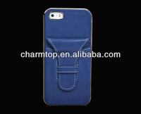 high quality genuine leather hard back case for iPhone 5 5S