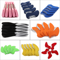 2015 New Arrival 5pcs Neoprene Golf Club Iron Head Covers Headcovers Cases 8 Colors Universal