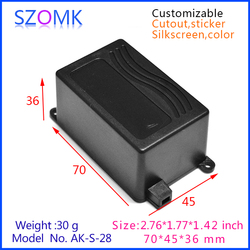 plastic equipment case with handle for equipment abs