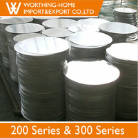 """Different Sizes 8"""" 9"""" 11"""" 12"""" Inch 304 Stainelss Steel Circle 0.7 Thickness"""