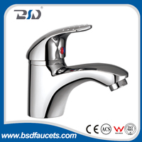 supply brass body single handle single hole basin faucet China factory wholesale chrome deck mounted basin sink faucets mixer