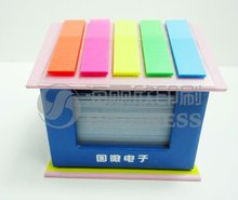 3D Decorated house shape memo pad for company promotion
