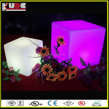 wireless design LED cube stool for christmas decoration