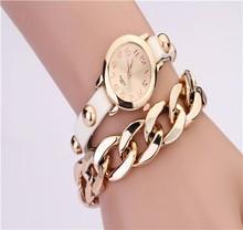 Top quality Women Lady Dress Quartz Rhinestone Fashion Square Weave Wrap Multilayer Leather Bracelet Wrist vogue lady watch