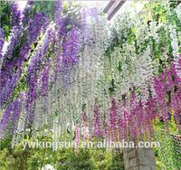 Most Popular 110cm Artificial Wisteria for wedding decoration party decoration home decor