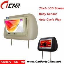 Body Sensor 7 inch Advertising monitor headrest tablet mount