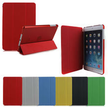 High Quality stand leather case for ipad mini with crystal back cover
