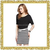 Classical cotton polyester leisure matching skirt and tops