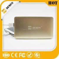 2015 Popular Customized Logo Slim Power Bank 10000mah with dual USB