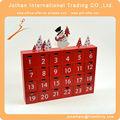 plaza de madera calendario de adviento muñeco de nieve con la decoración