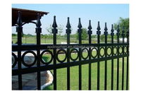 painting palisade fencing/painting wrought iron fence