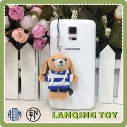 Kids Minion Brown Puppy Dog Keychain Plush Toys