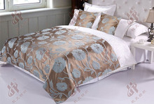 High percision luxury king size bed covers for hotel guest room decoration
