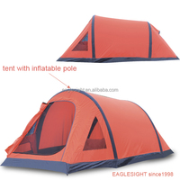 tent with inflatable pole