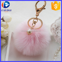 Car Ornaments Cute Simulation Rabbit Fur Ball Key Chain