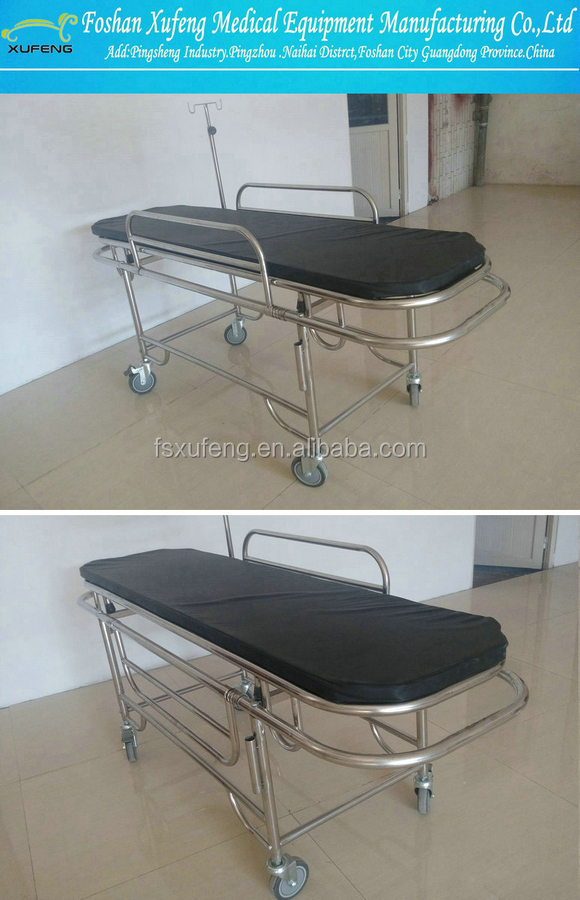 2015 Aluminum /Stainless steel patient ambulance emergency stretcher trolley