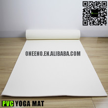 6mm brand logo white yoga mat printed