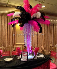 Red white black ostrich feathers for Wedding decoration