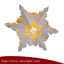 Hanging paper star lantern for decoration Festival to celebrate glitter star decorations