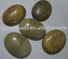 wholesale gemstone picture jasper cabochon