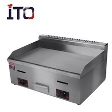 CI-720 Table Top Commercial teppanyaki gas griddle with flat plate