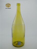 1500ml 1.5L large capacity yellow color glass wine bottle cheap price