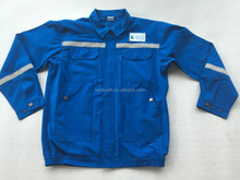Flame retardant work jacket with reflective tape