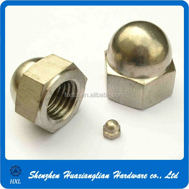 High quality din m hexagon domed cap nuts end