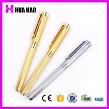 Factory price solid color promotional metal logo pen gel ink metal pens metal roller pen