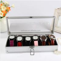 New Aluminum + Acylic Box Watch Jewelry Display Storage Organizer Case ZYD-HZMwb004