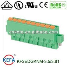 Enchufe de prensa del bloque de terminales de tono macho hembra conector del zócalo con el tornillo 8a cable conector