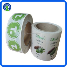 Printing Label And Waterproof Custom Clear Transparent Self Adhesive Sticker, Waterproof Printed Clear Label, Roll Packing Stic