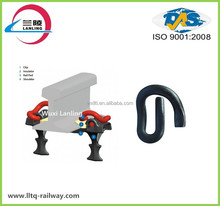 Railway track e type spring clip for rail fastening