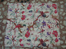 Tree Birds Kantha Gudari Quilt Reversible for Christmas & New Year Gift