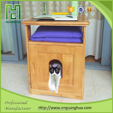 prefabricated house cat litter box wooden revolution for cats products