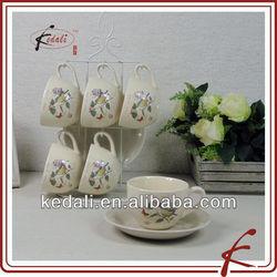 bird design ceramic 250ml coffee cup